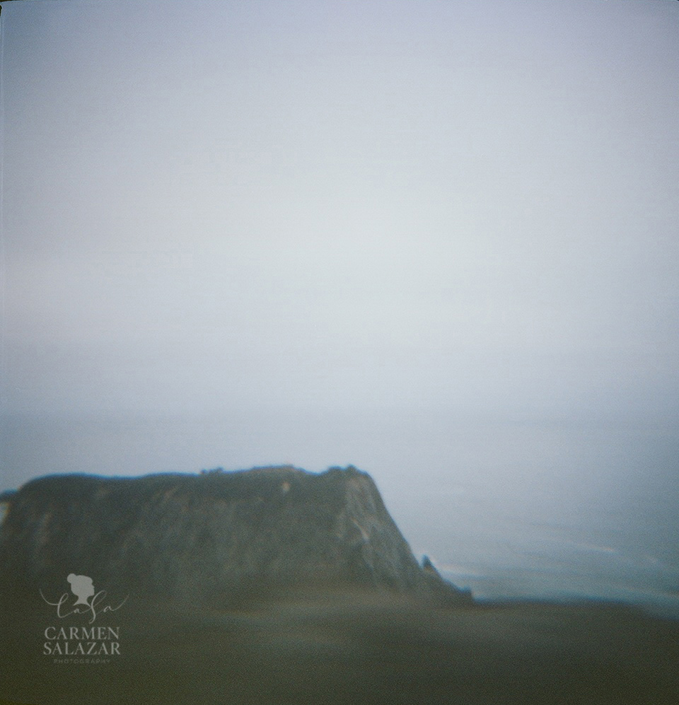 creative California coastal photo taken with Diana Camera