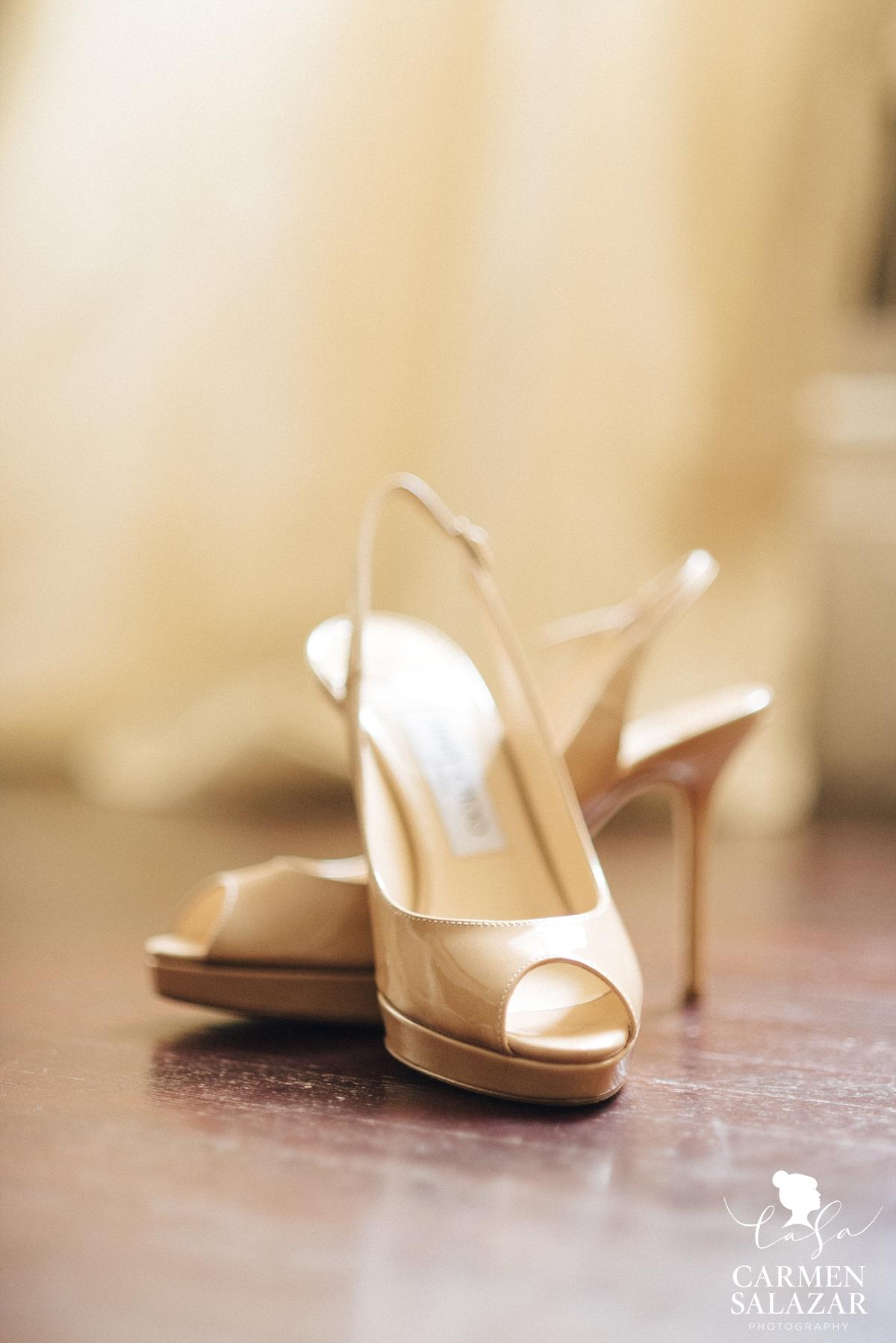 Nude bridal heels - Carmen Salazar