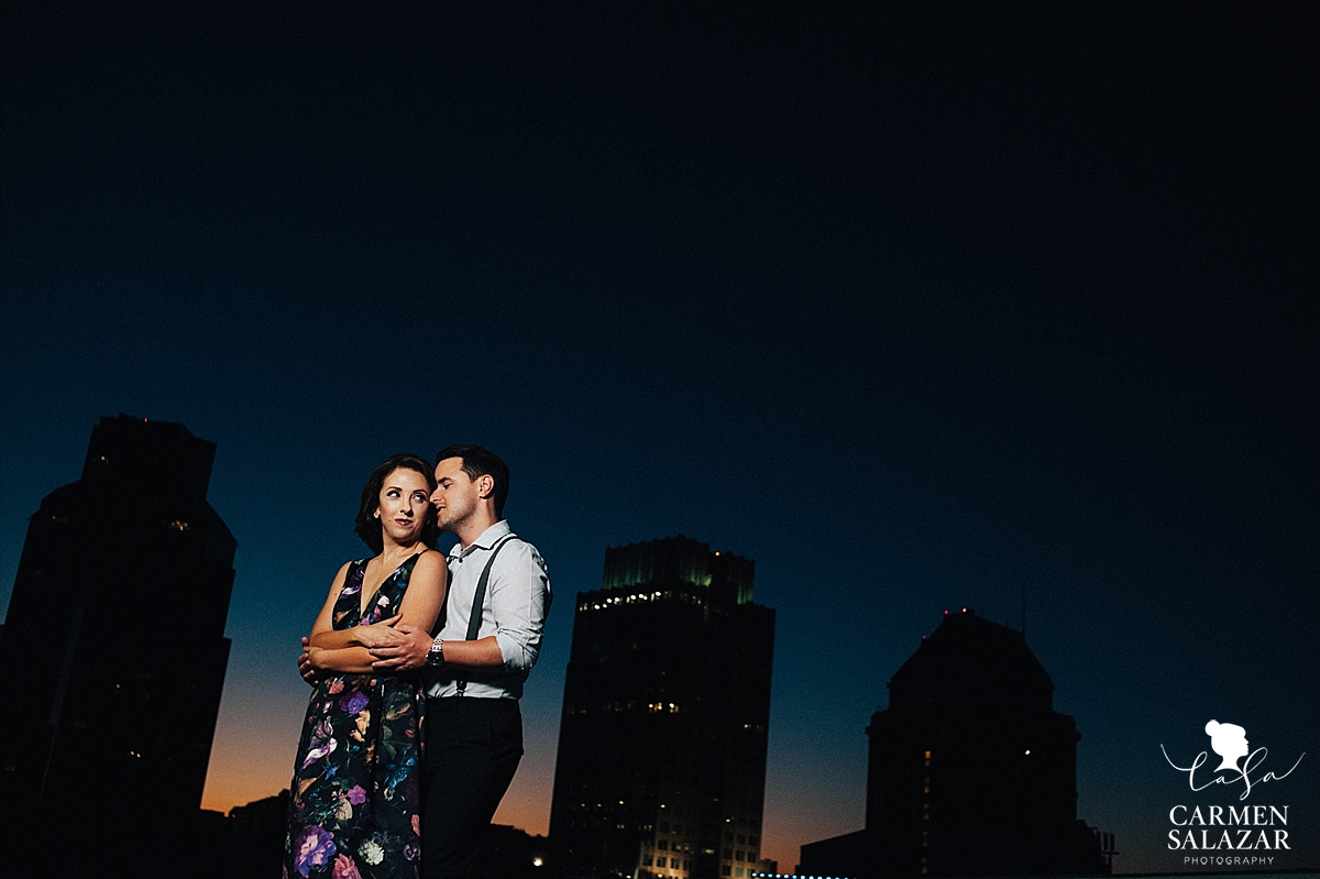 Sunset over Sacramento engagement - Carmen Salazar