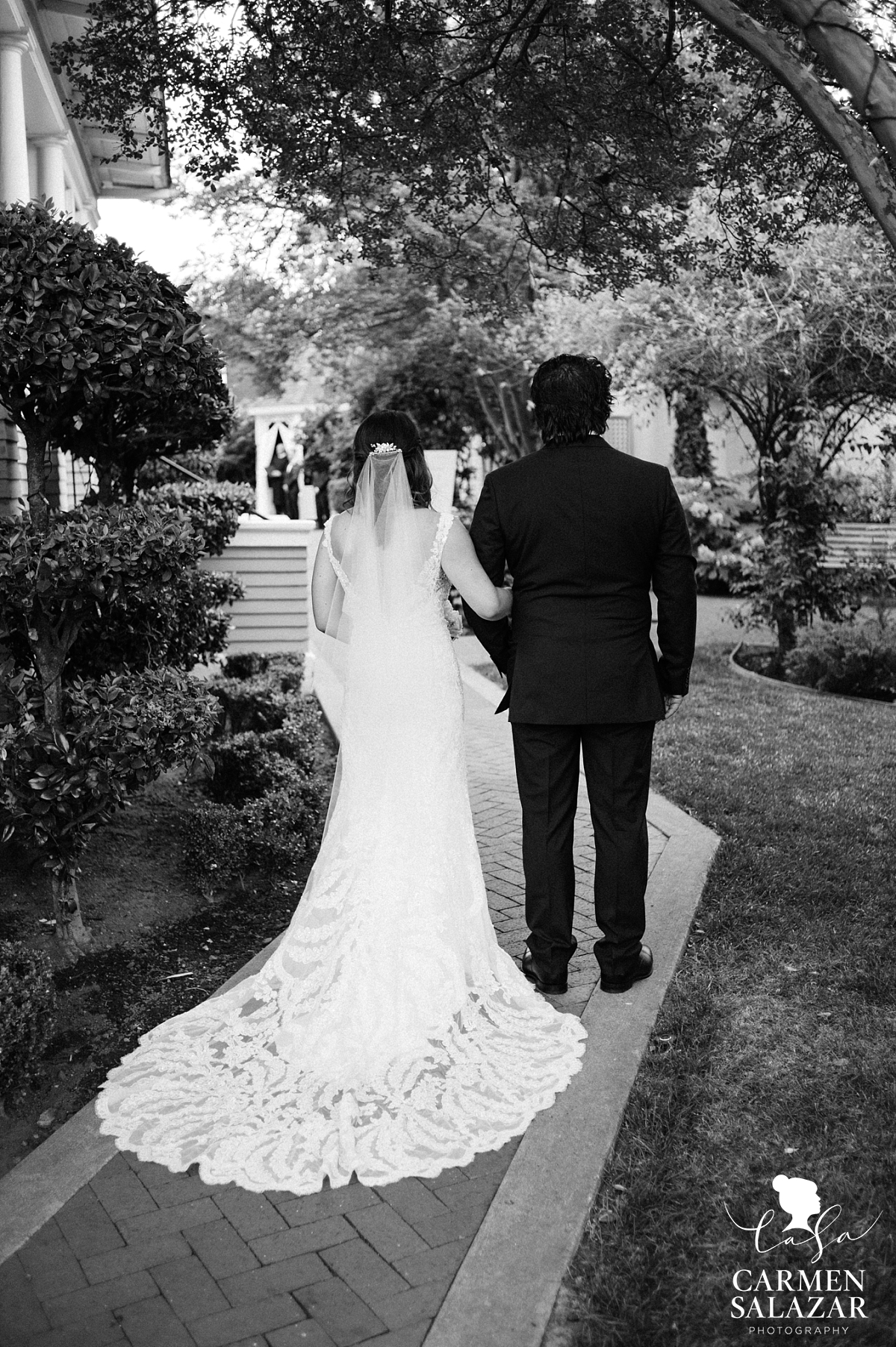 Father walking bride down aisle at Vizcaya - Carmen Salazar