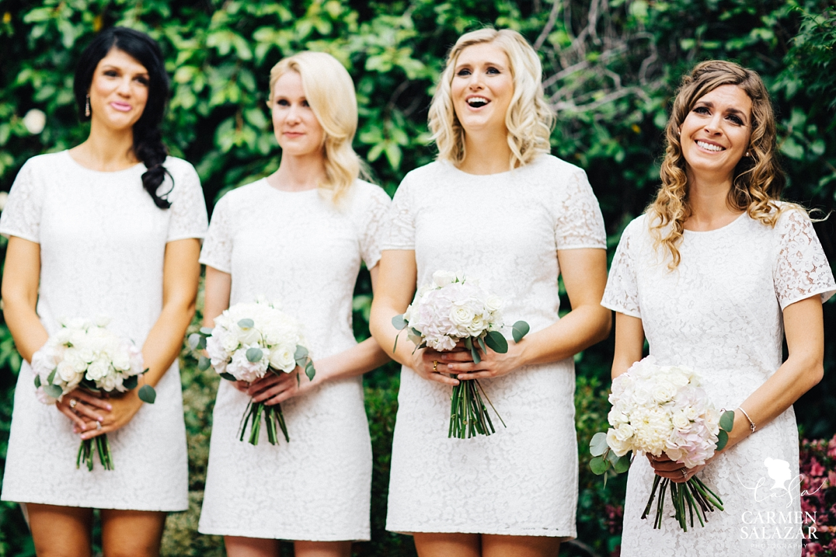 Emotional bridesmaids at Vizcaya wedding - Carmen Salazar