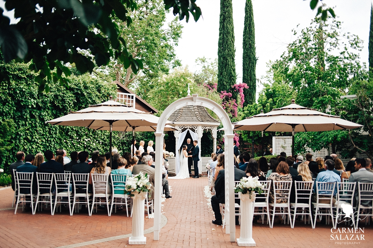 Vizcaya summer garden wedding ceremony - Carmen Salazar
