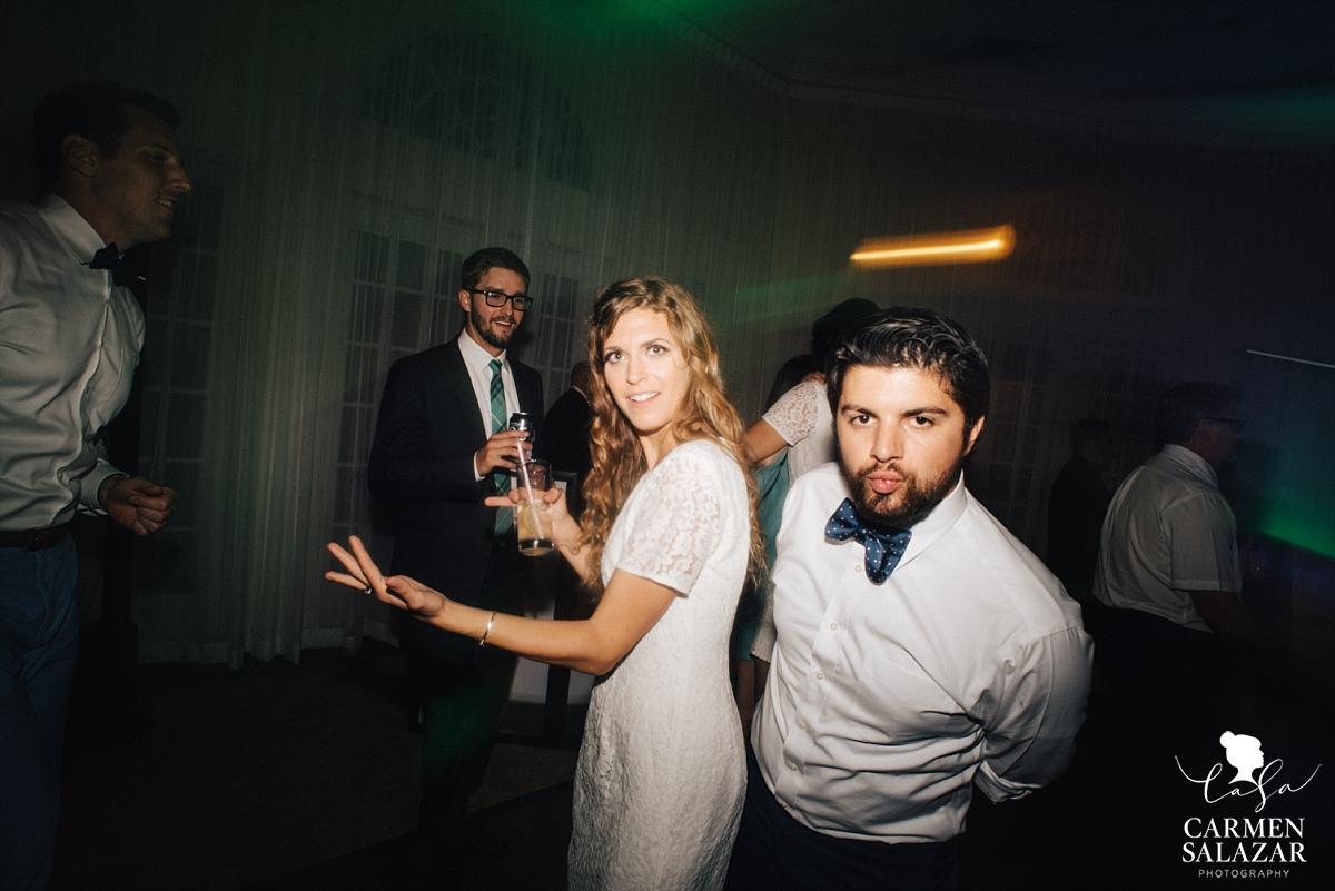 Silly wedding dance floor candids - Carmen Salazar