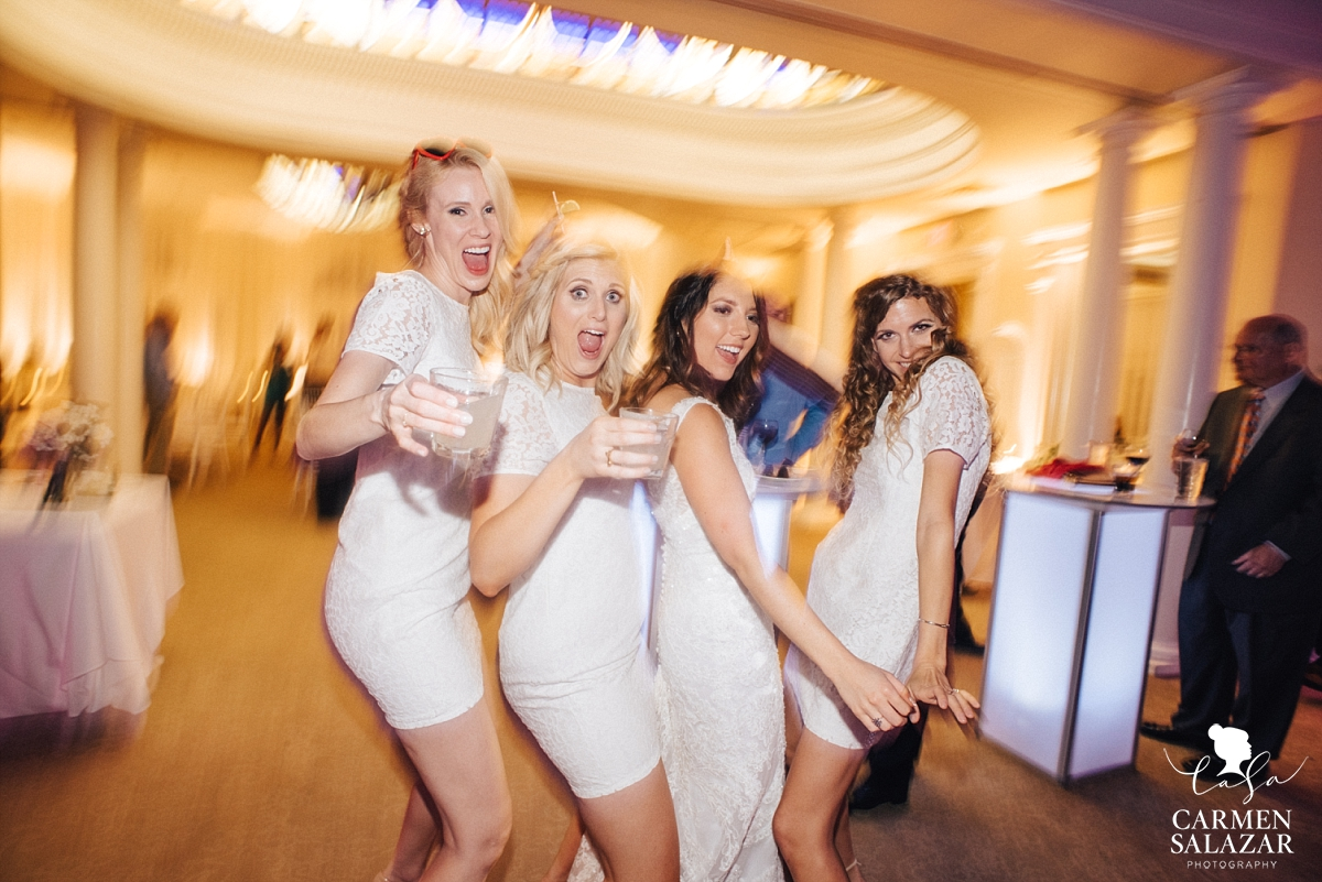 Fun bridal party reception photography - Carmen Salazar