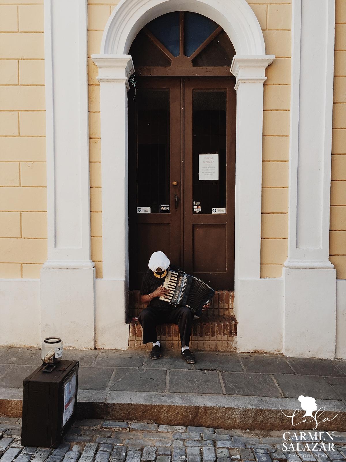 Musician on street in Old San Juan