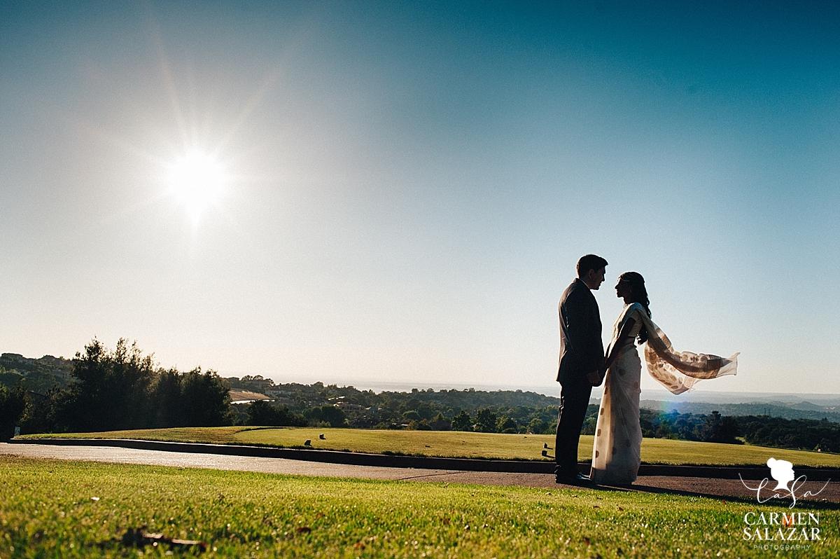 Newlyweds at Serrano Country Club golf course - Carmen Salazar