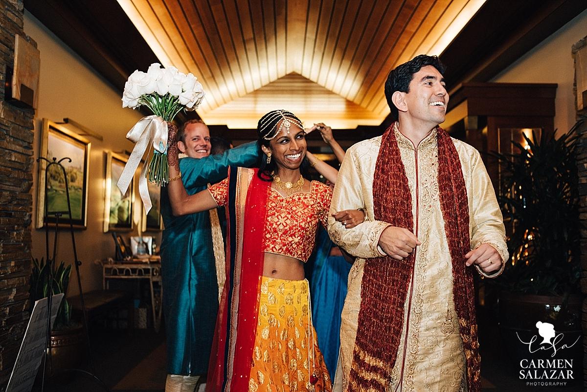 Indian wedding wardrobe change grand entry - Carmen Salazar