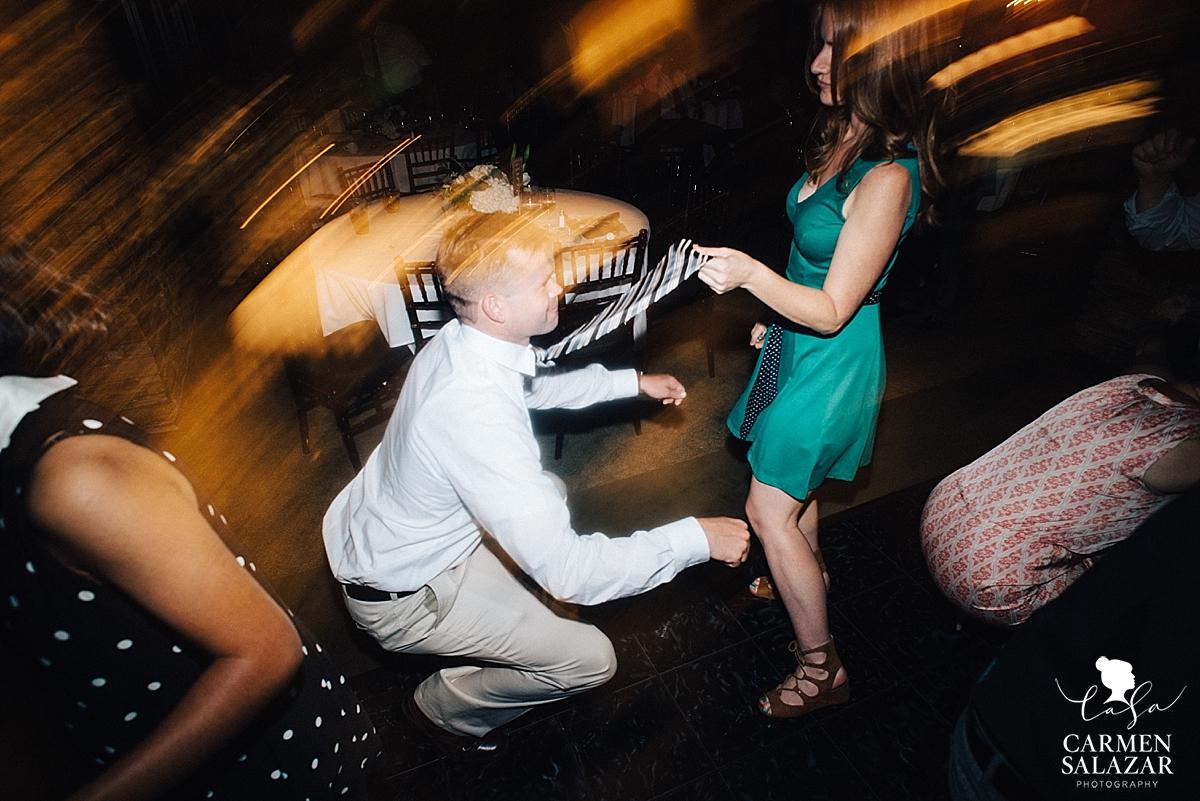 Silly dance moves at summer wedding reception - Carmen Salazar
