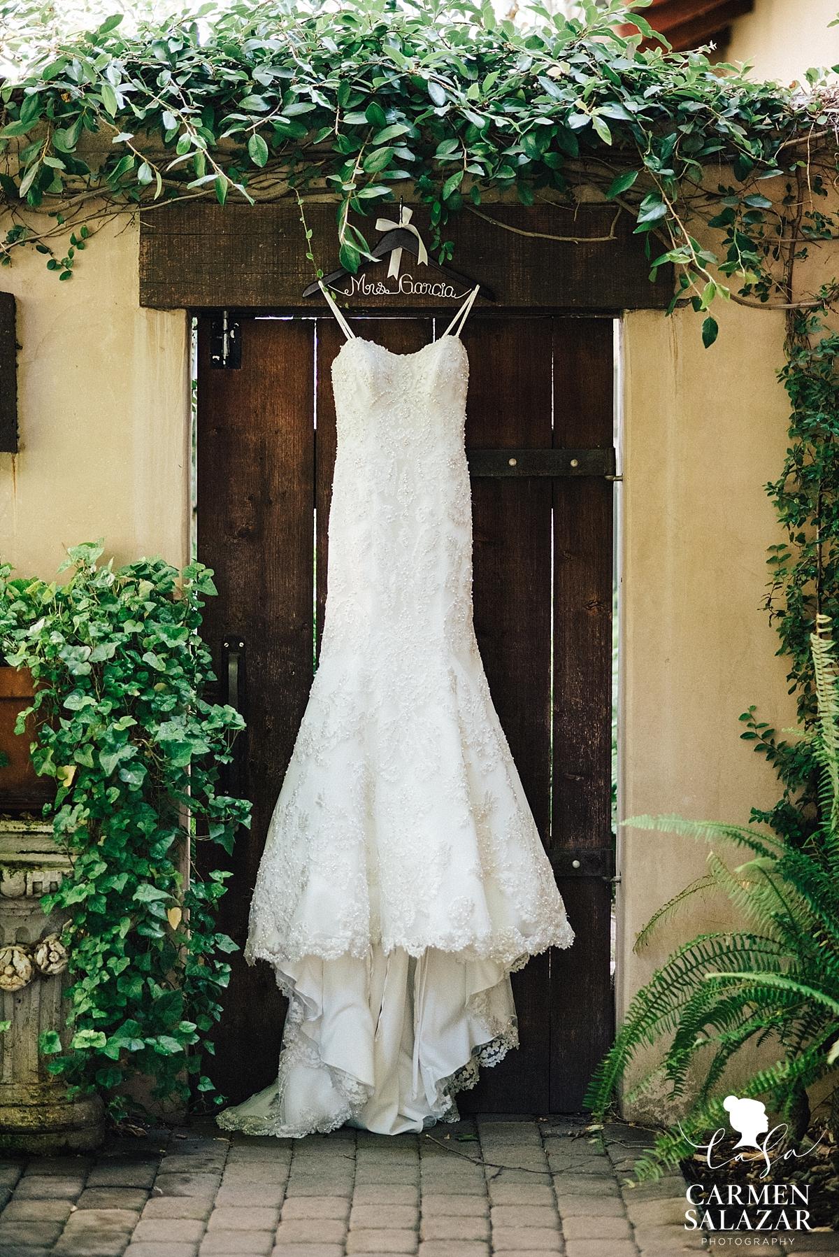 Glamorous lace mermaid wedding gown - Carmen Salazar