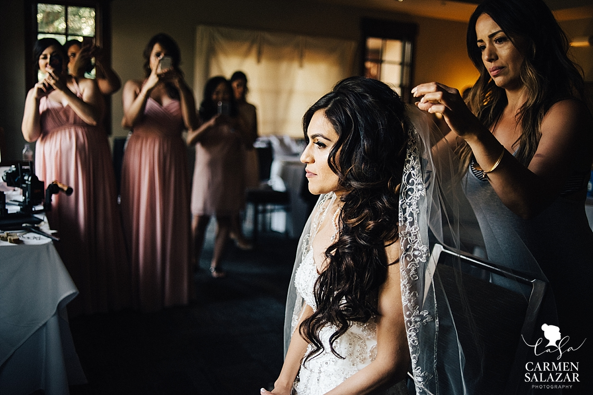 Gorgeous traditional catholic veil for Morris Chapel bride - Carmen Salazar