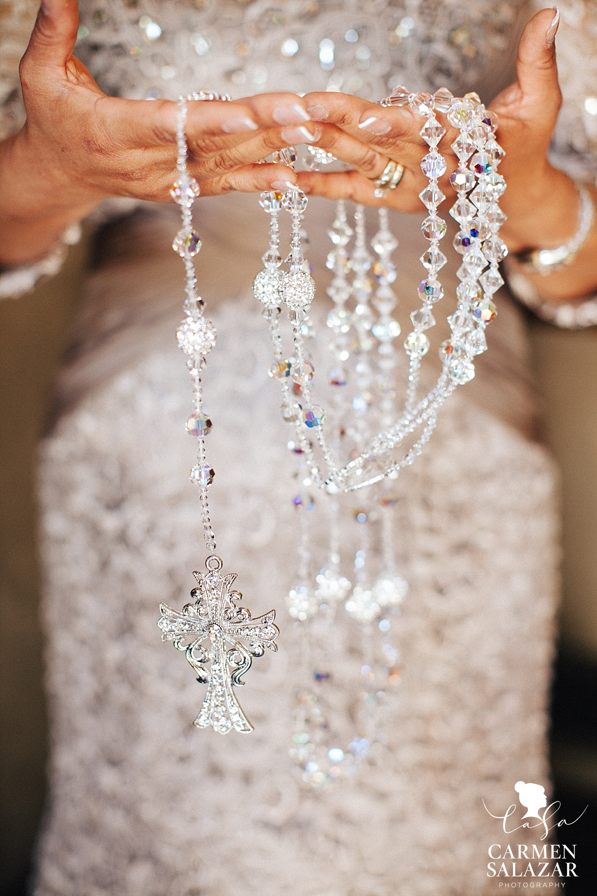 Dazzling wedding rosary at Morris Chapel ceremony - Carmen Salazar