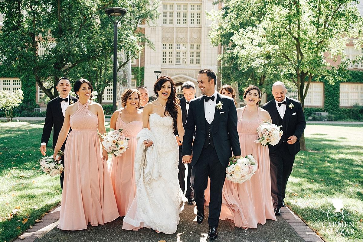 University of Pacific bridal party photography - Carmen Salazar