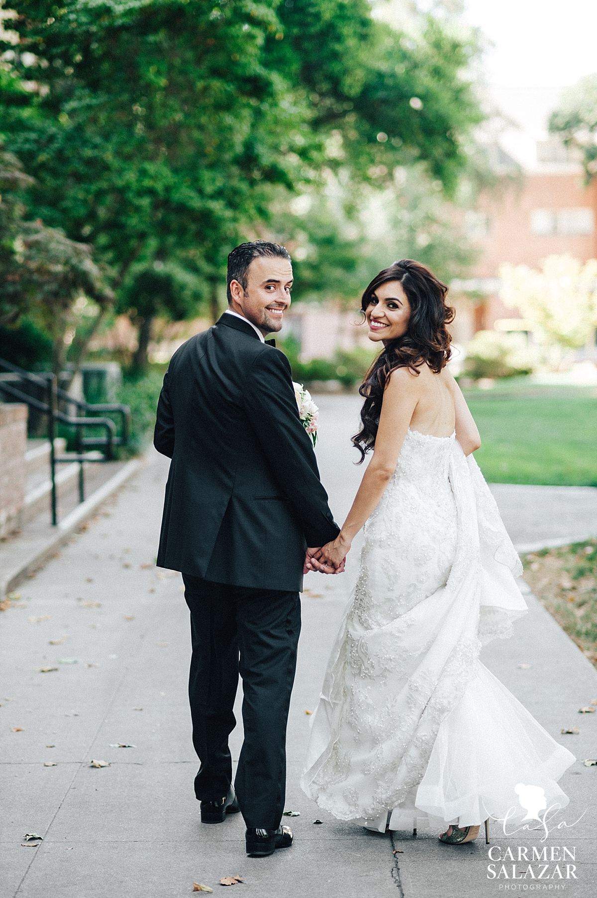 Newlyweds heading to Wine and Roses Reception - Carmen Salazar