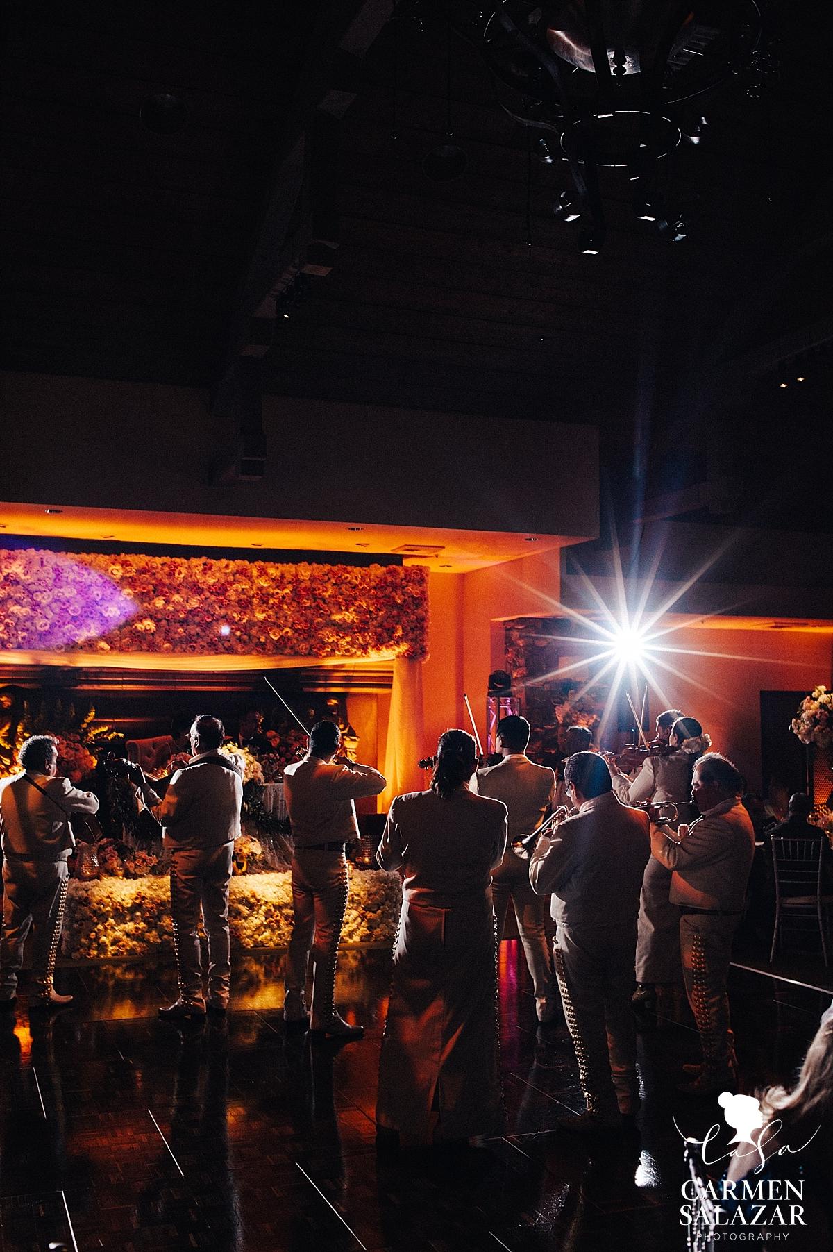 Mariachi serenade at Wine & Roses reception - Carmen Salazar