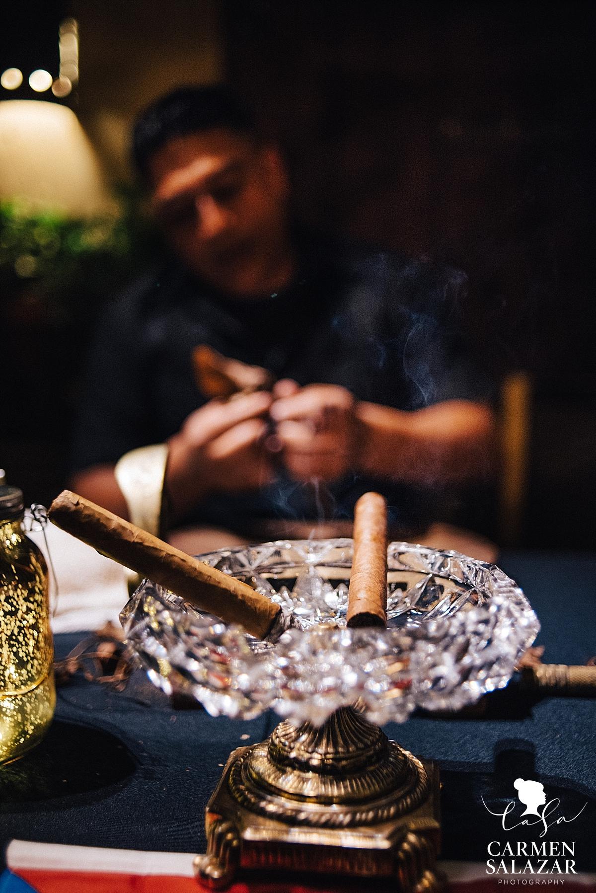 Casillas Cigars bar at Wine & Roses reception - Carmen Salazar