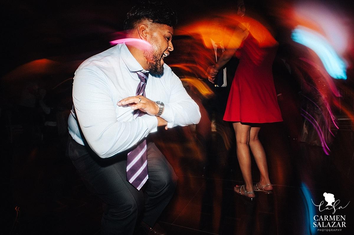 Dancefloor moves at Wine and Roses reception - Carmen Salazar