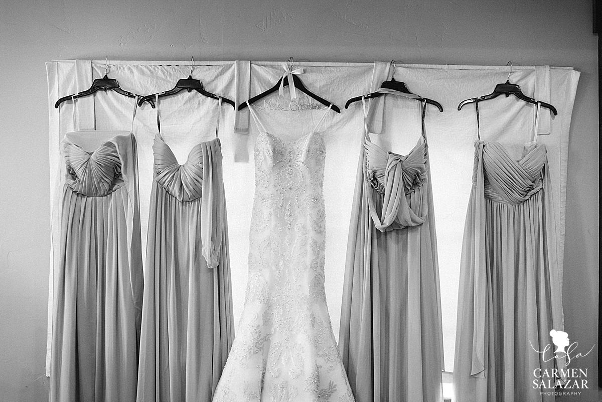 Beautiful bridesmaids dresses with wedding gown - Carmen Salazar