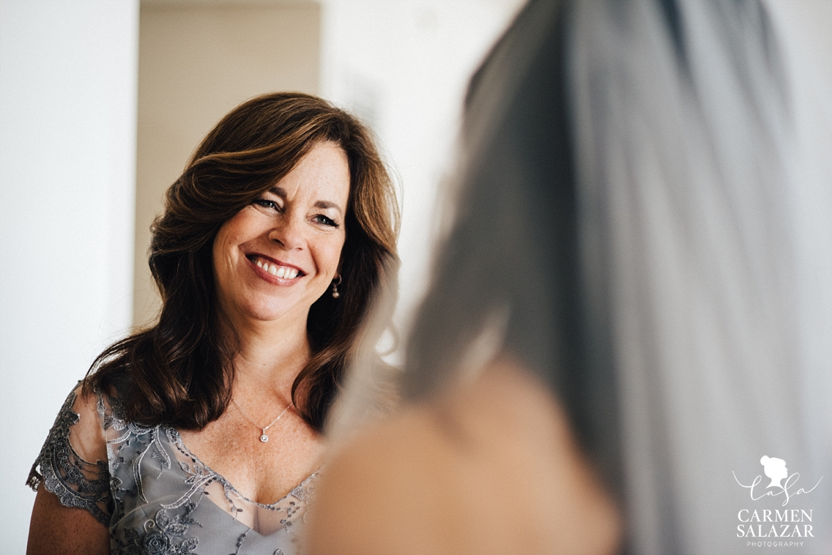 Sentimental mother daughter wedding moment - Carmen Salazar