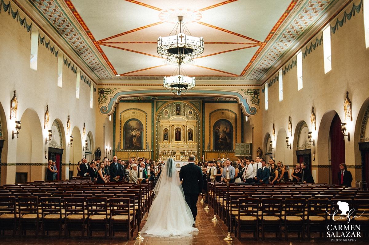 Gorgeous Santa Clara Mission catholic wedding ceremony - Carmen Salazar