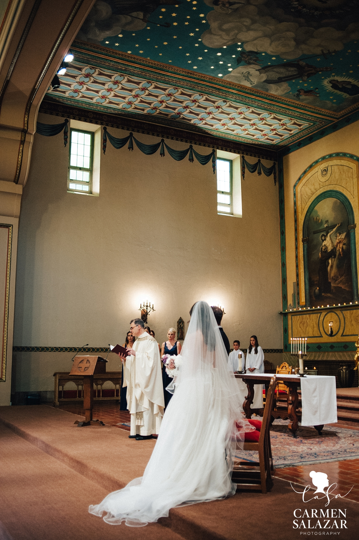 Beautiful Santa Clara cathedral wedding - Carmen Salazar
