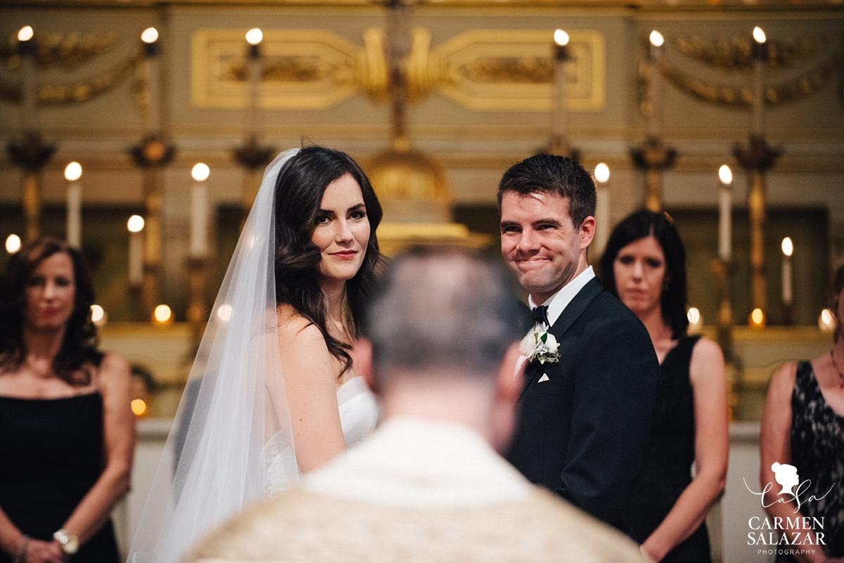 Sentimental moment with wedding priest - Carmen Salazar