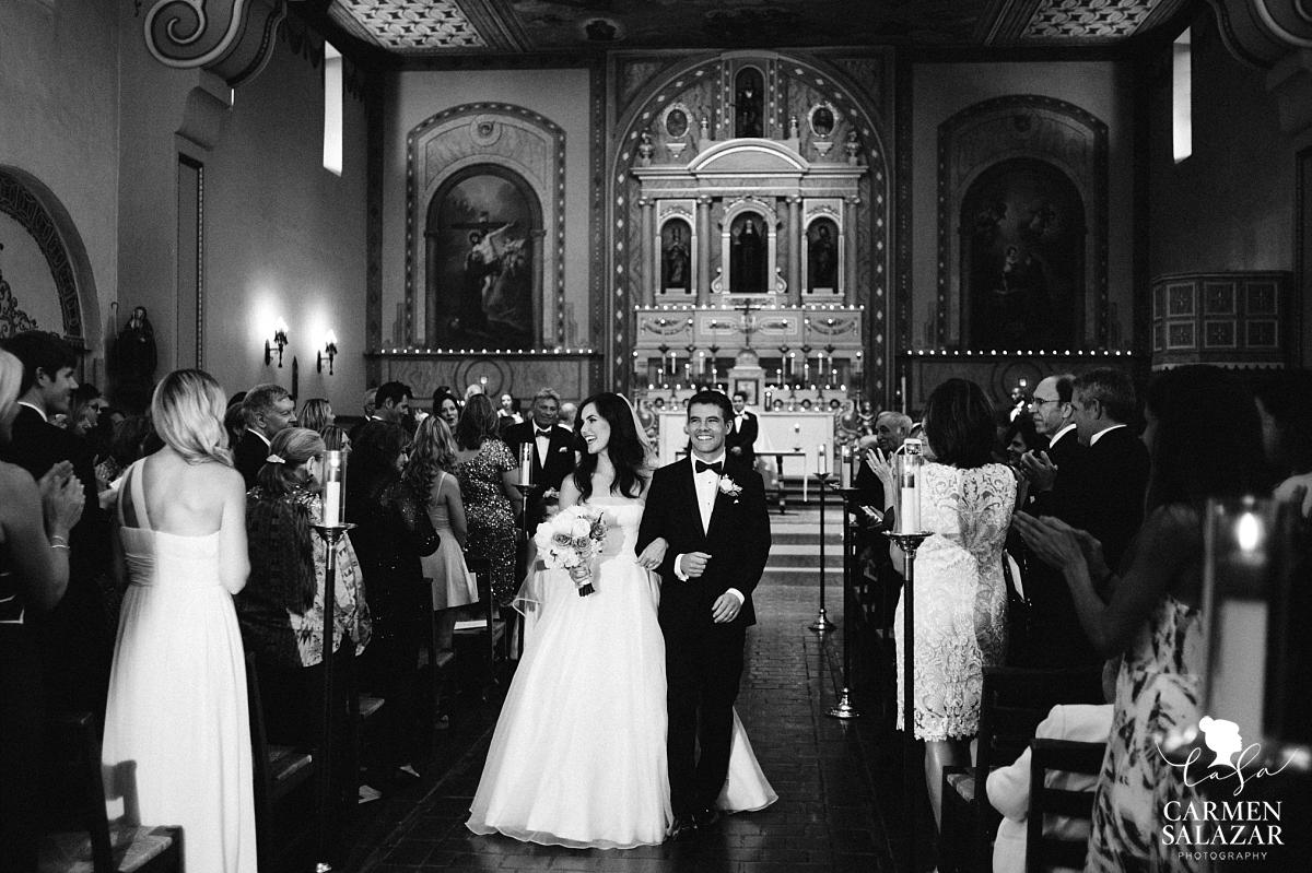 Grand exit at Catholic mission wedding ceremony - Carmen Salazar