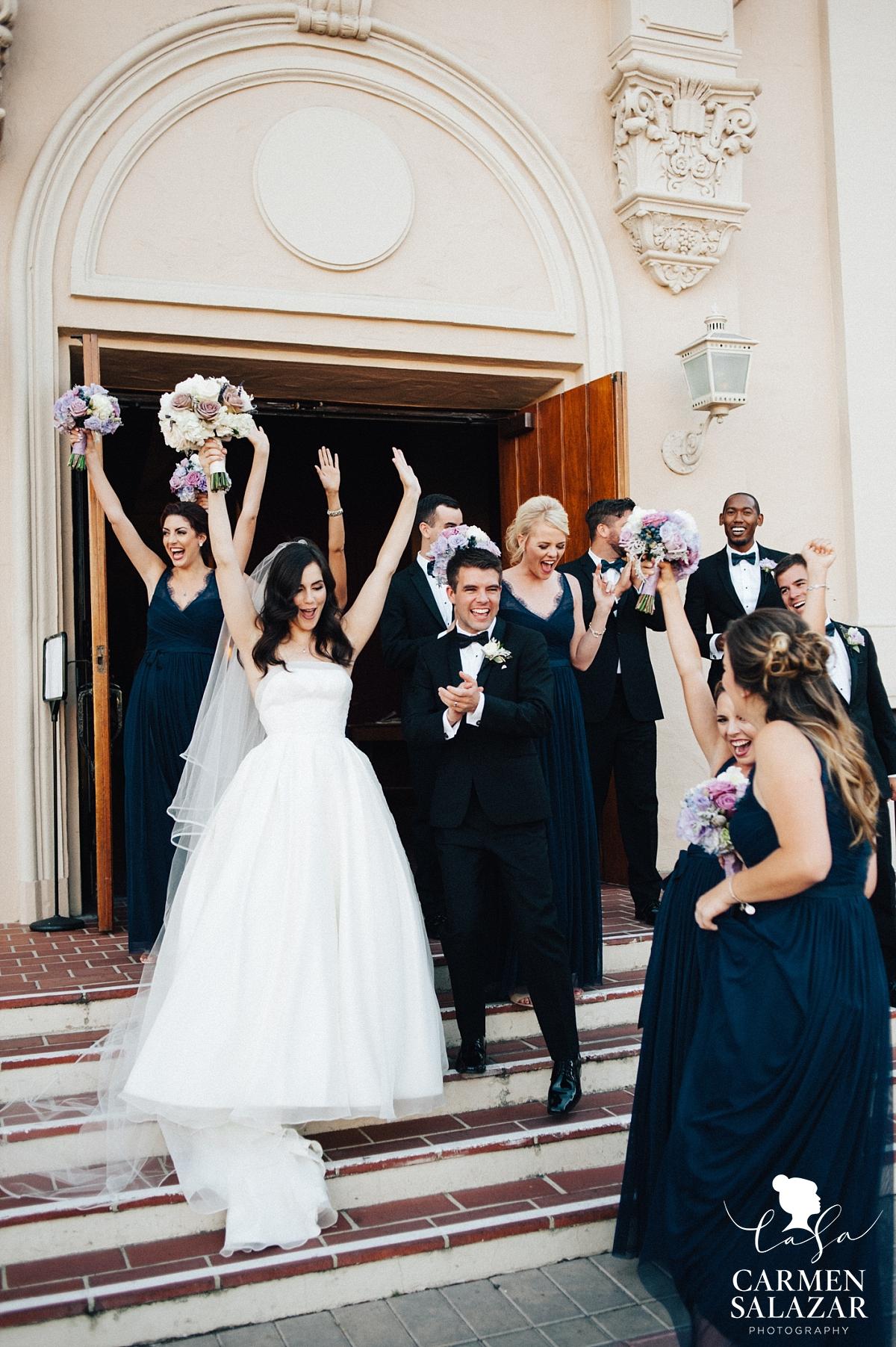 Bride and groom celebrating after ceremony - Carmen Salazar