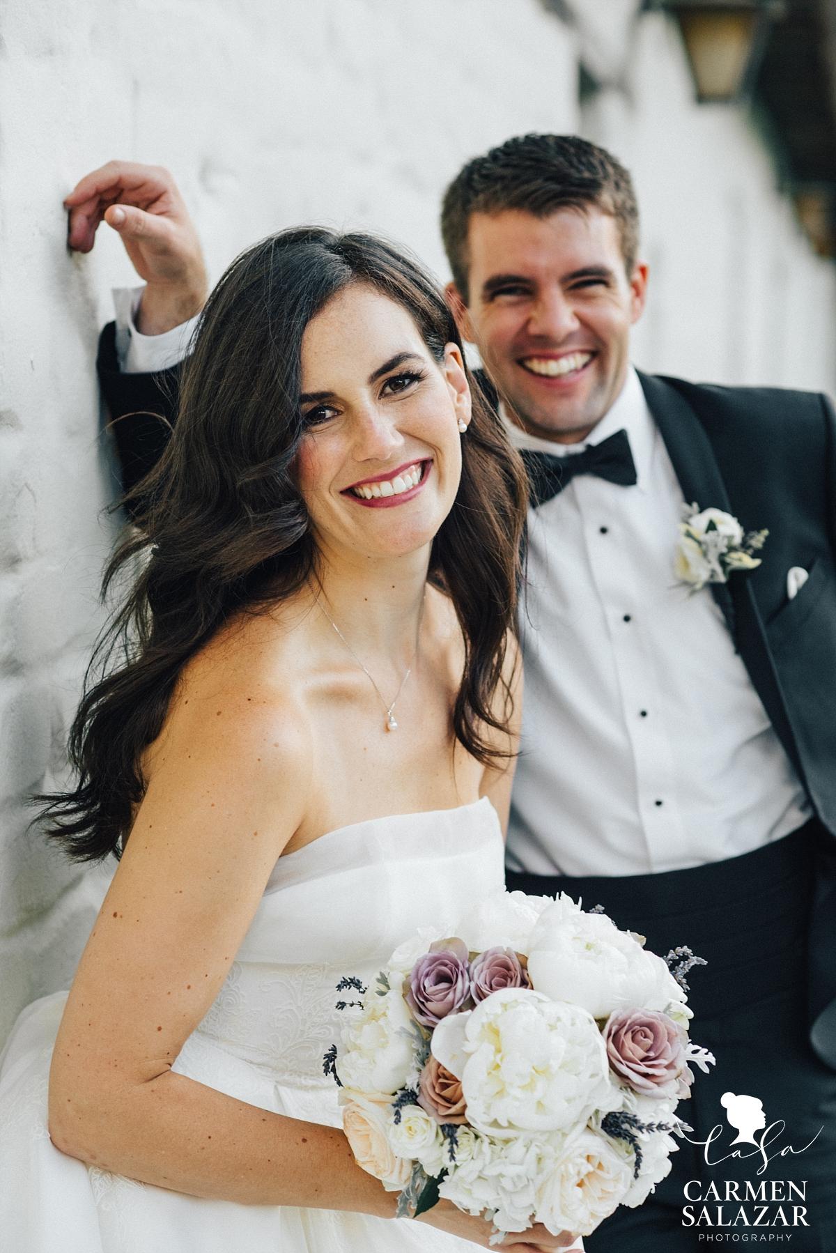 Traditional bride and groom wedding apparel - Carmen Salazar