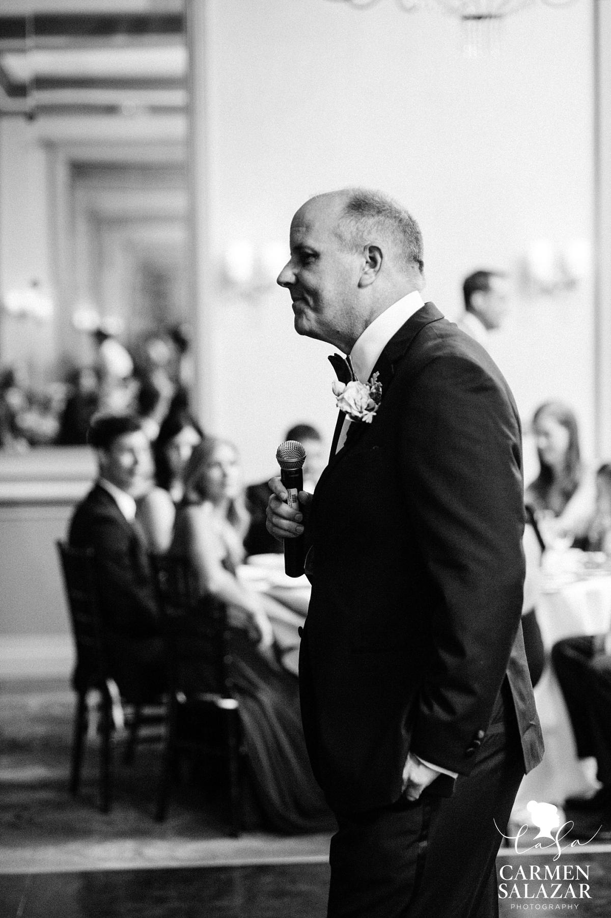 Father of the bride giving emotional speech - Carmen Salazar
