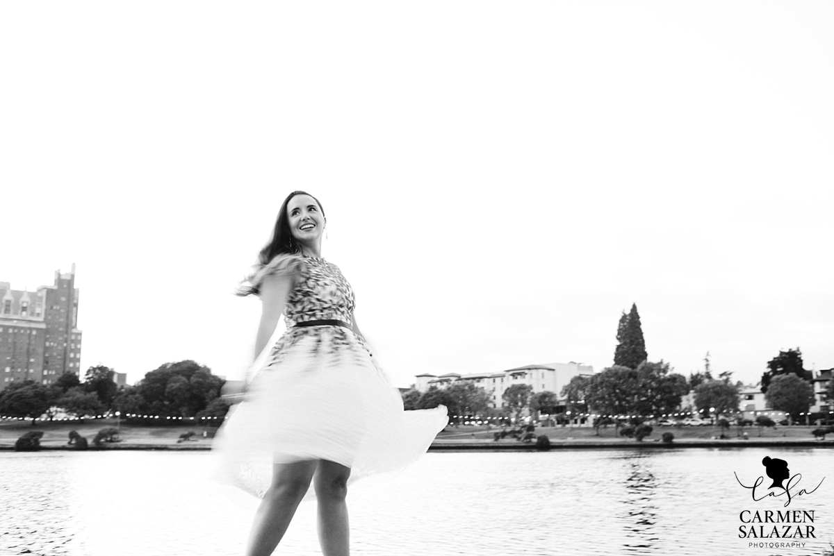 Rent the Runway engagement dress - Carmen Salazar