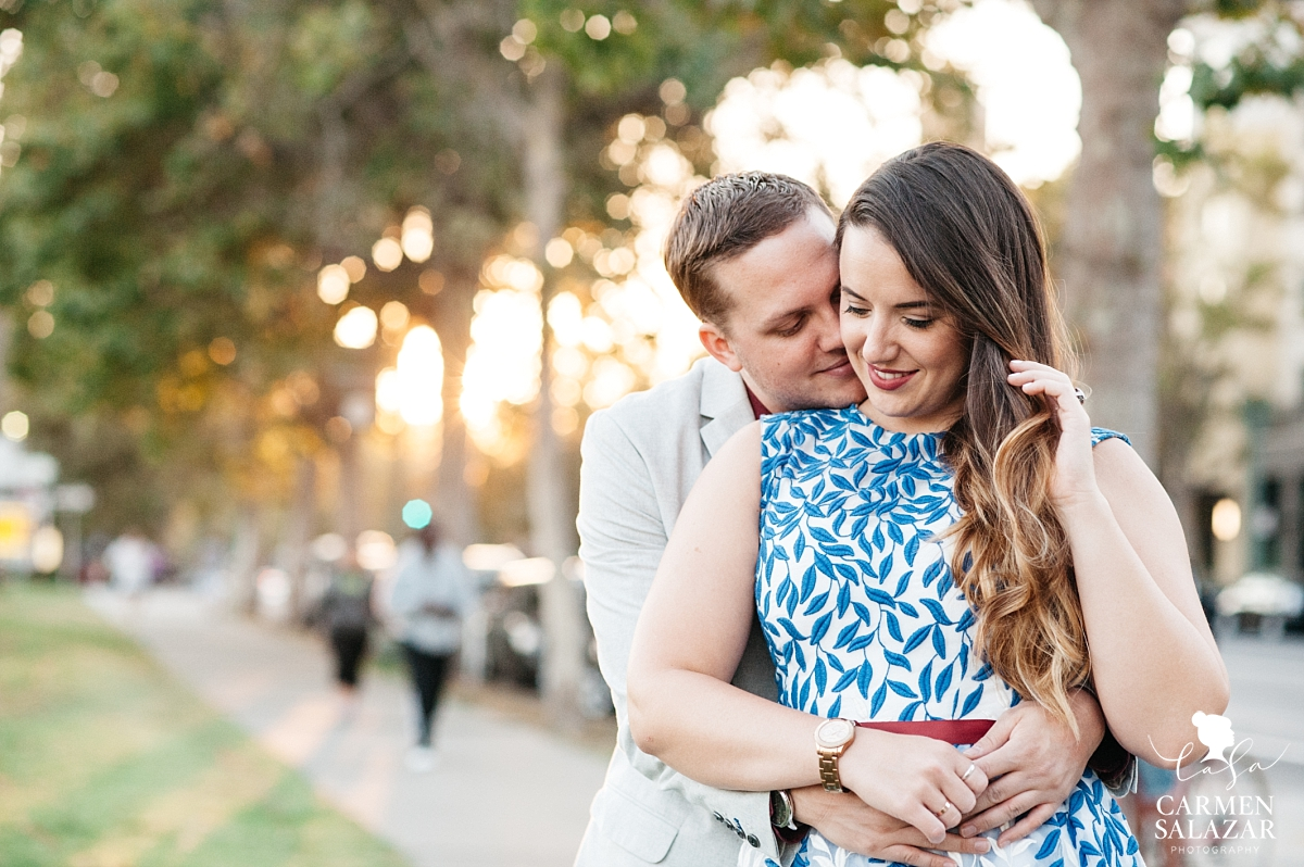 Sunset Lake Merritt Engagement Photography - Carmen Salazar