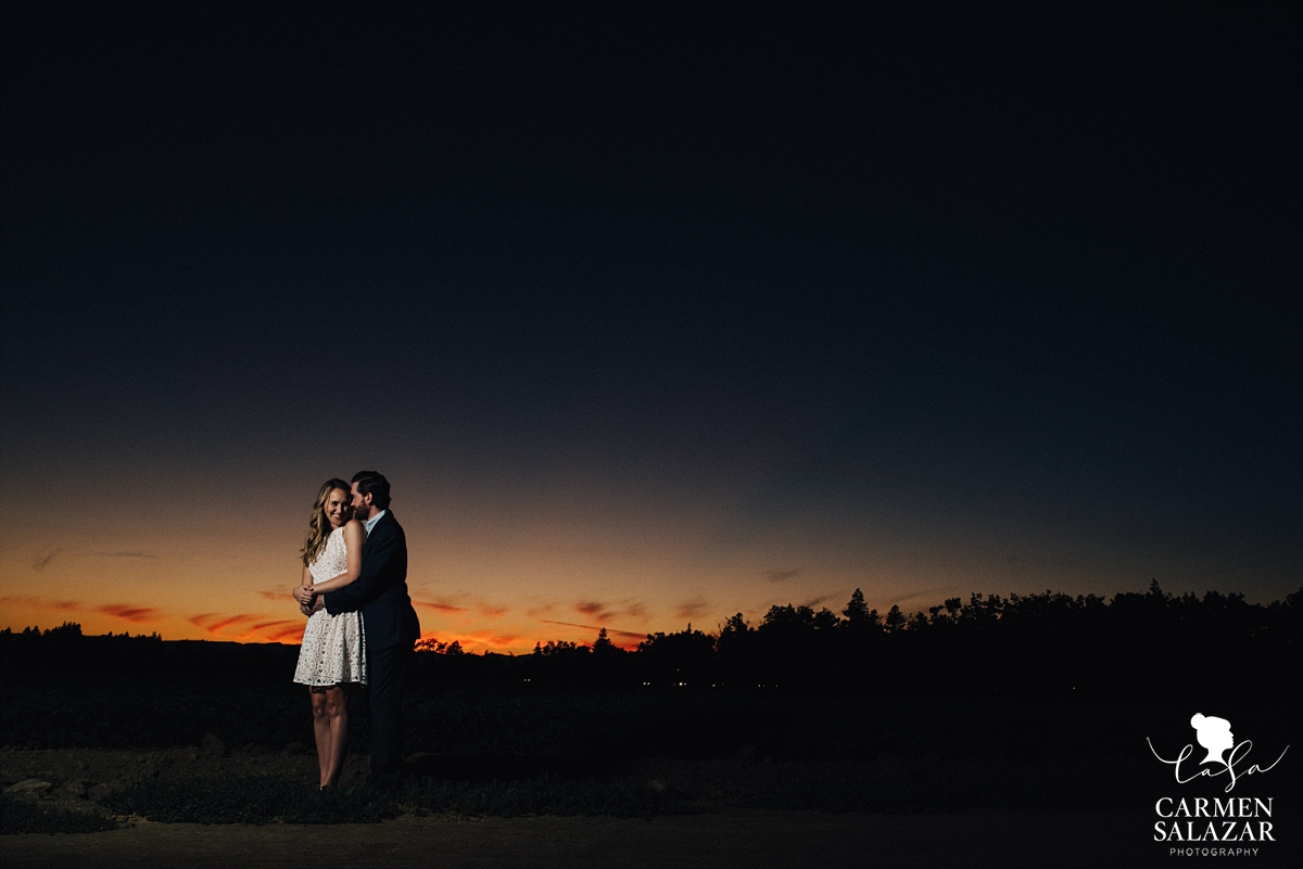 Playful Outdoor Sunset Engagement Photography - Carmen Salazar