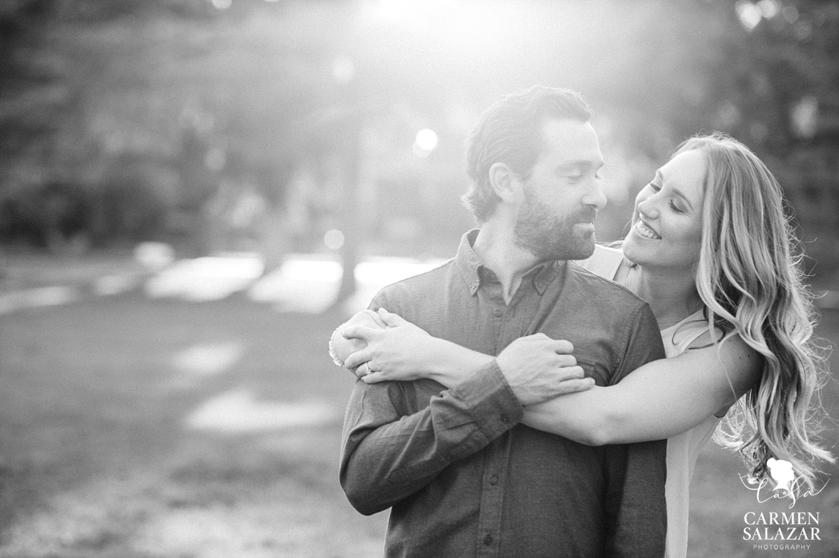 Black and White Davis Engagement Photography - Carmen Salazar