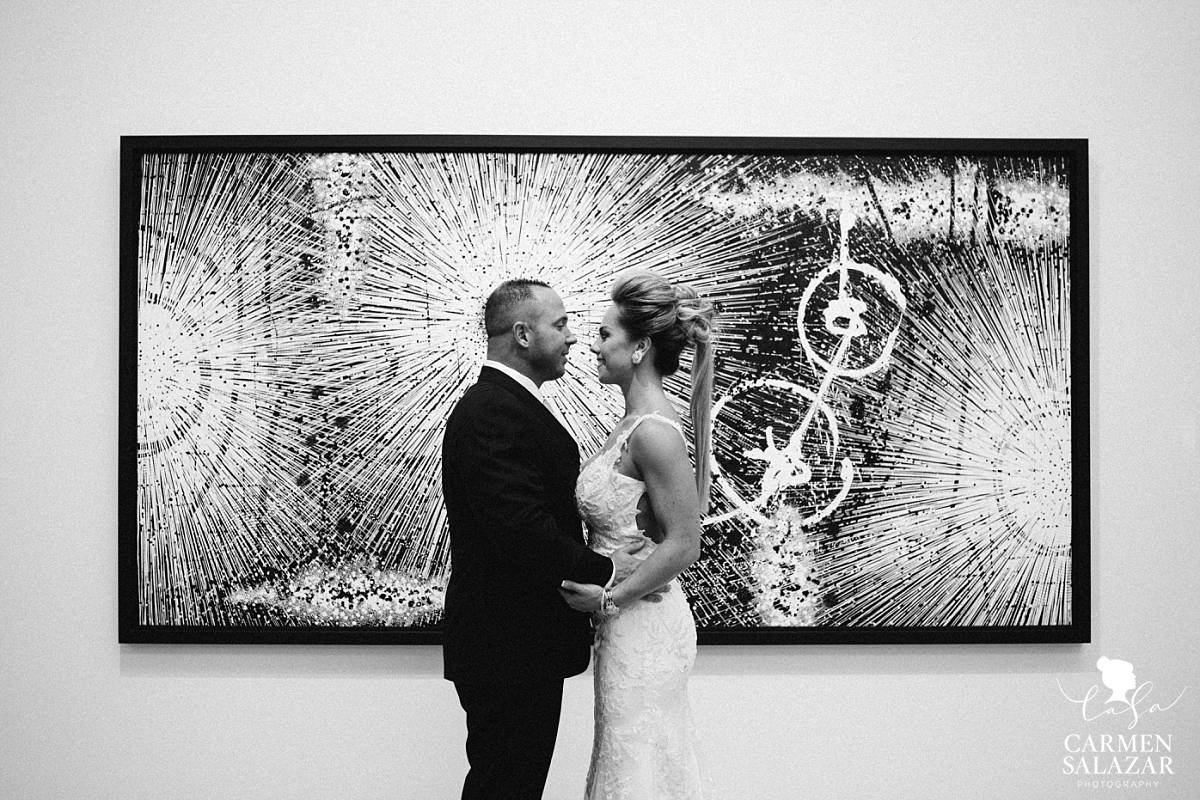 Creative art museum wedding portraits - Carmen Salazar