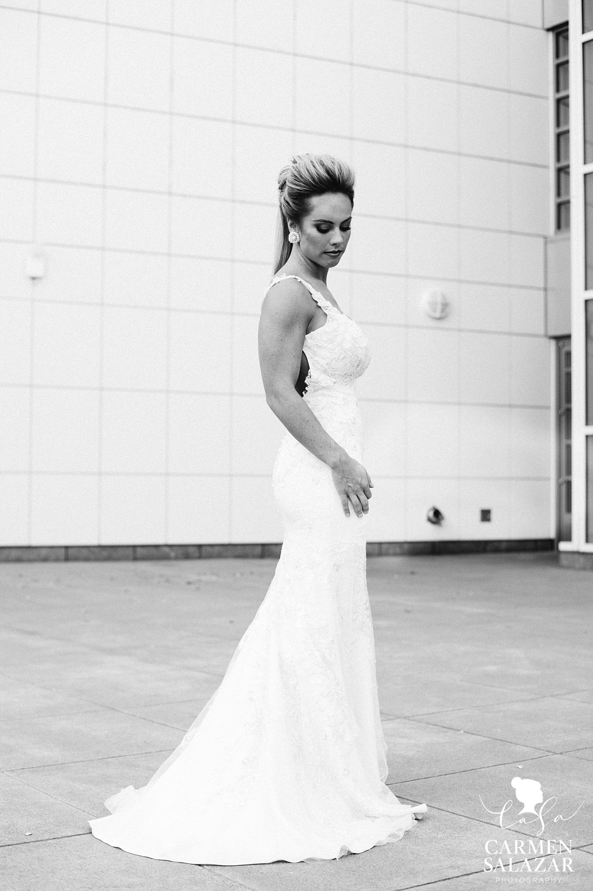 Stunning lace fitted wedding gown - Carmen Salazar