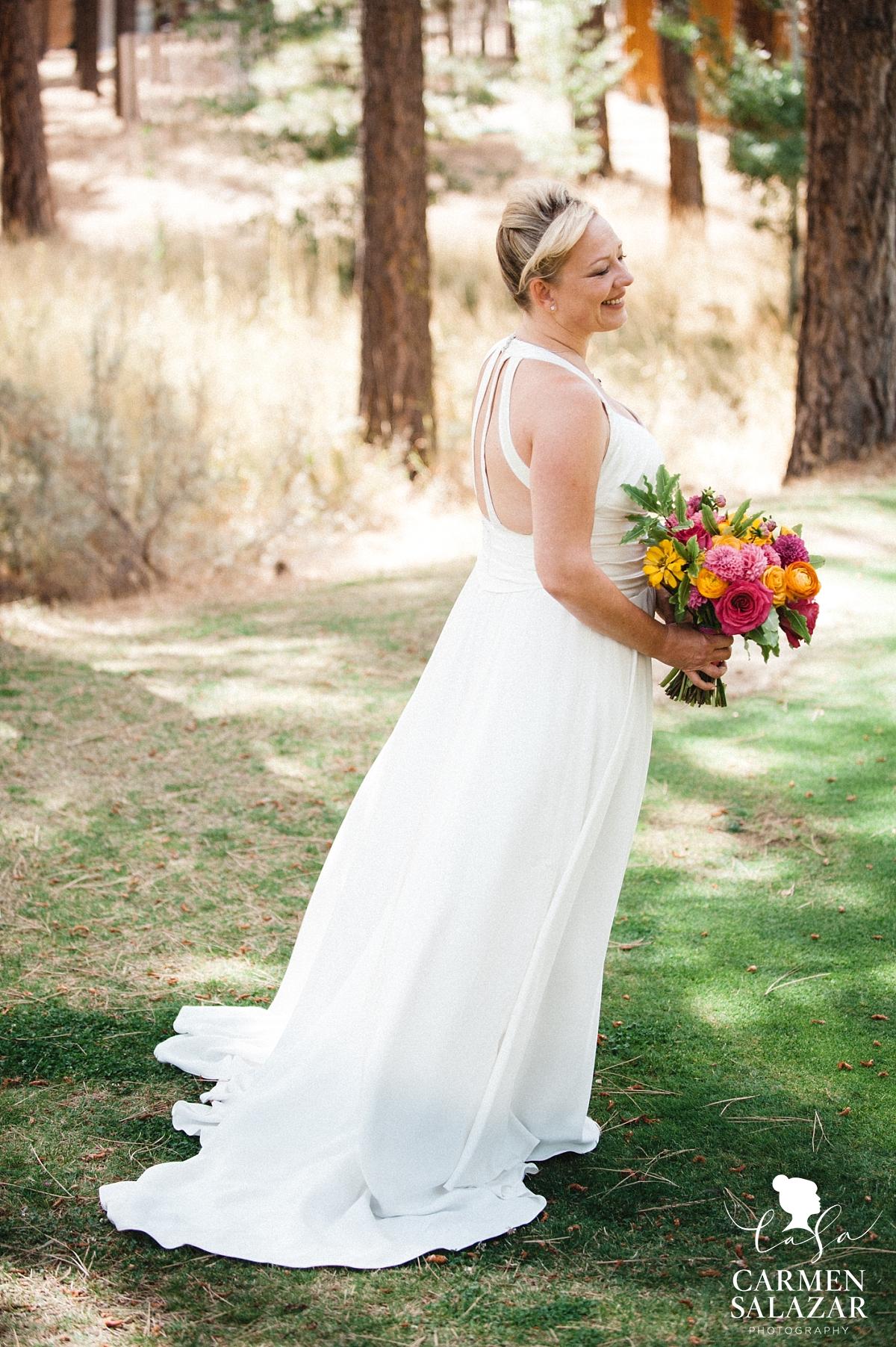 flowy custom designed wedding gown - Carmen Salazar