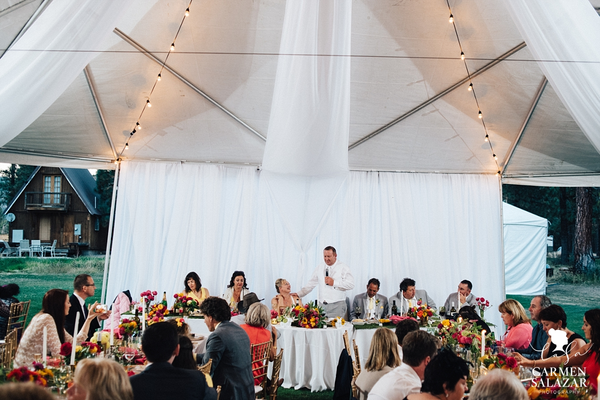 Light and airy outdoor reception canopy tent - Carmen Salazar