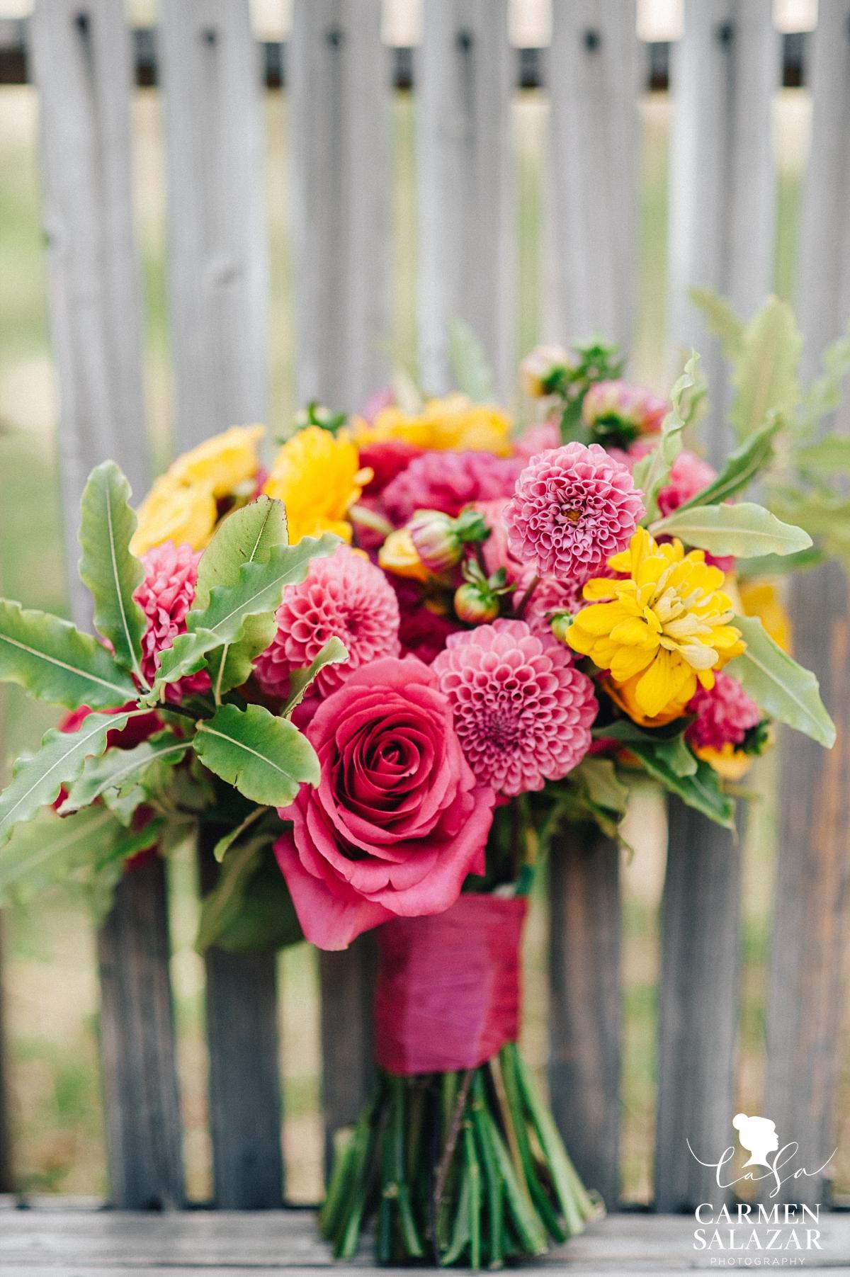 Gorgeous neon wedding bouquet by Melody Raye Flowers - Carmen Salazar