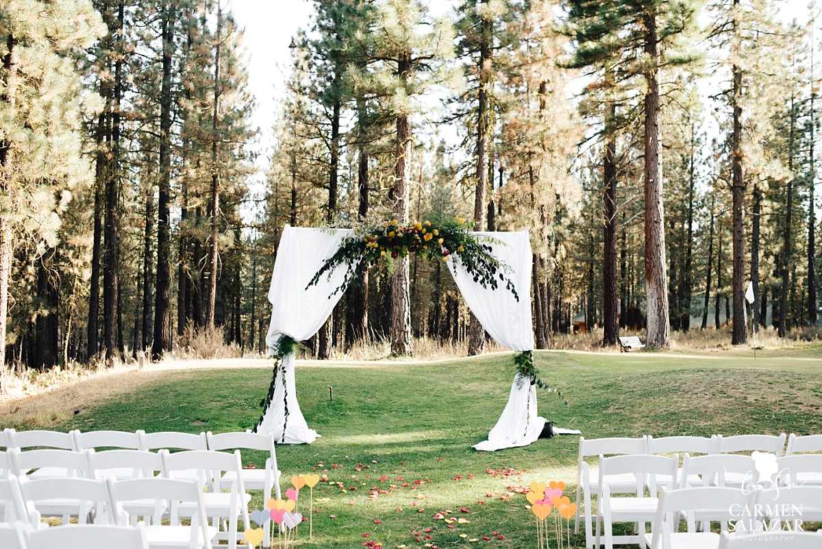 Charming floral wedding arbor inspiration by Melody Raye Flowers - Carmen Salazar