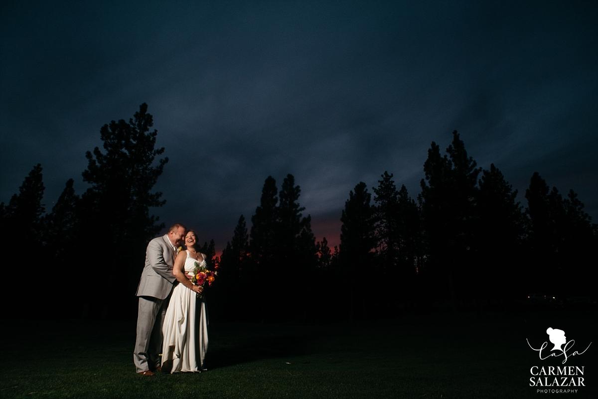 Stunning Tahoe Portola nighttime wedding photos - Carmen Salazar