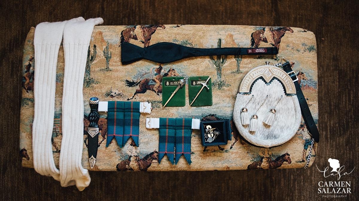 Traditional Scottish wedding attire - Carmen Salazar