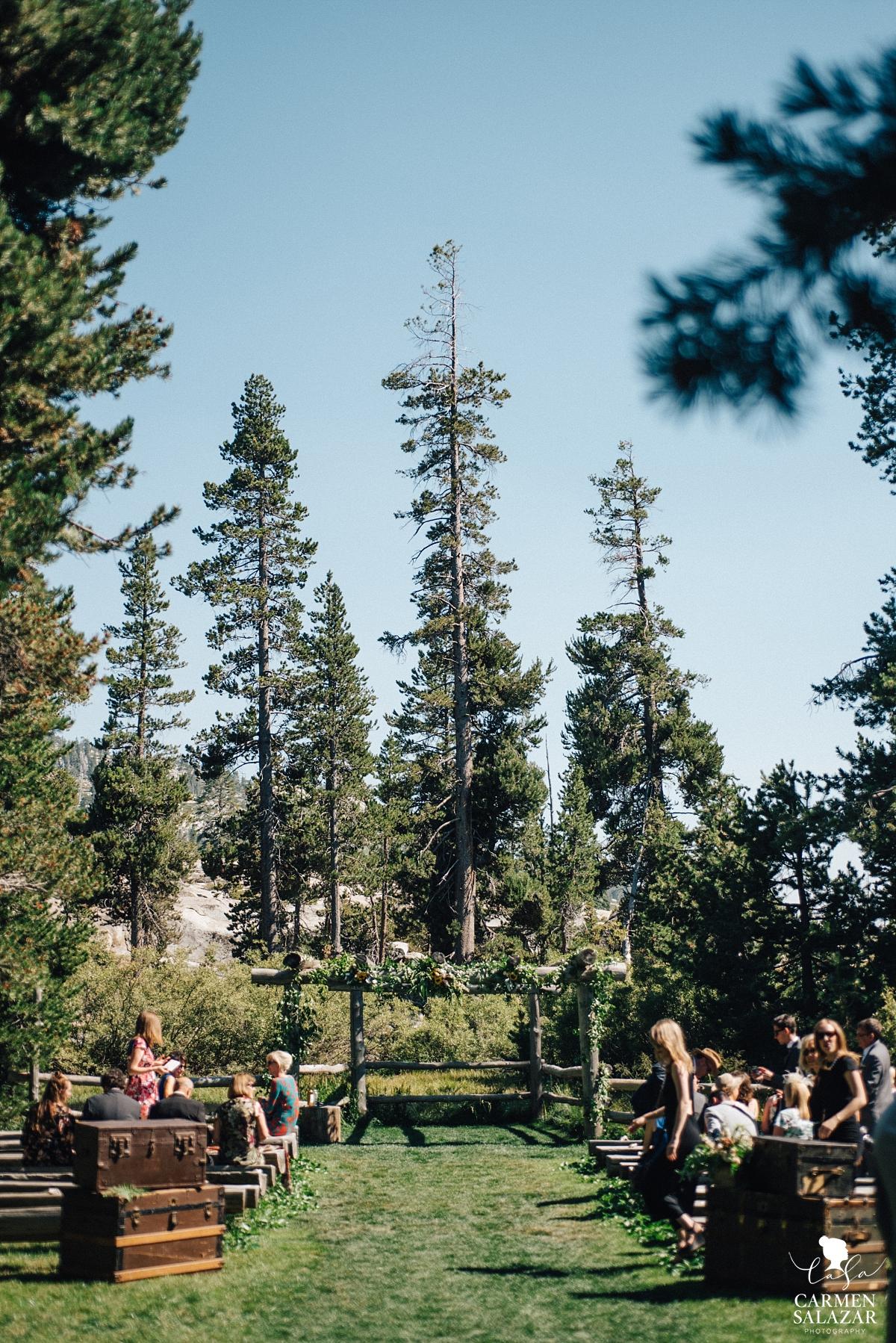 Boho outdoor wedding ceremony site - Carmen Salazar