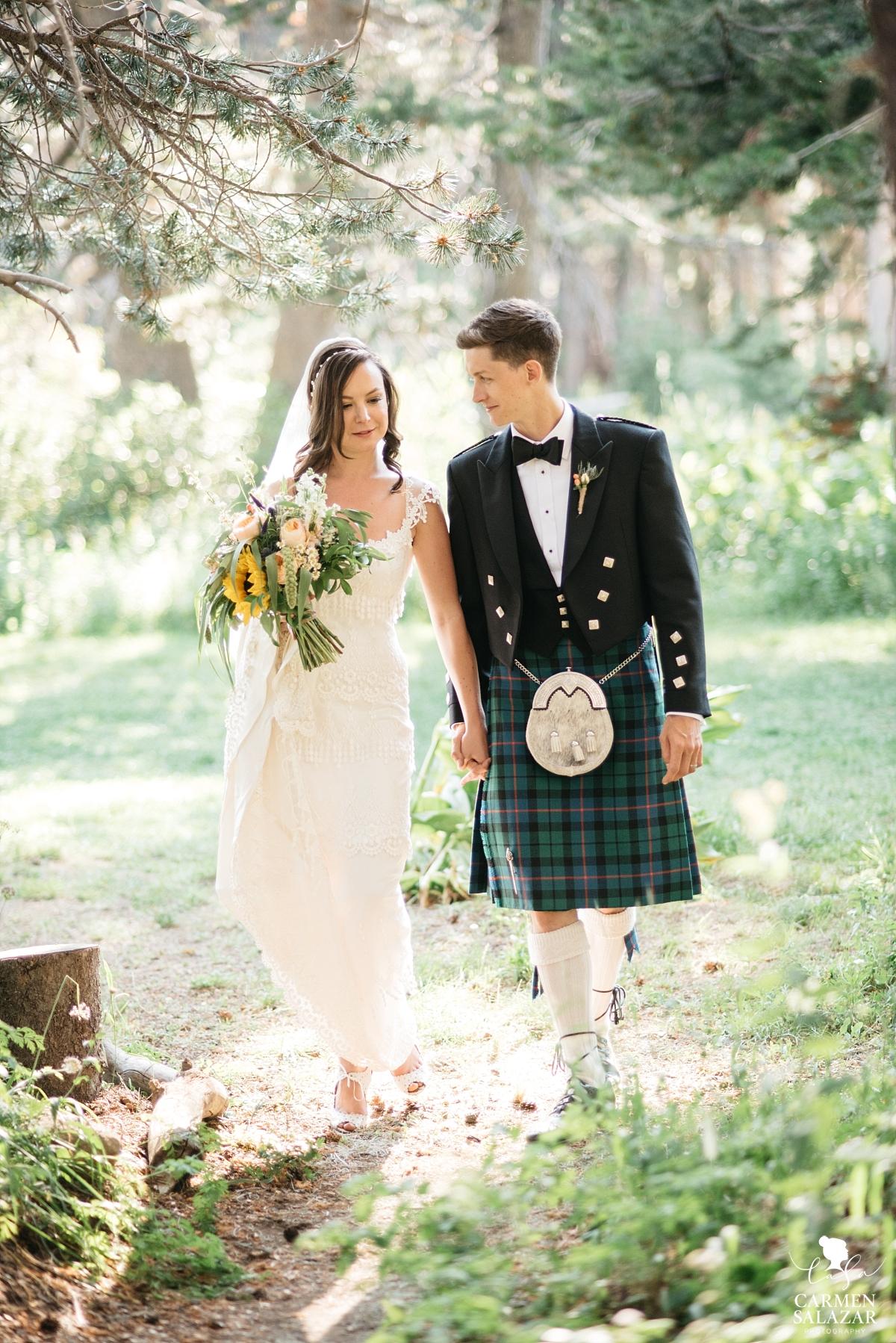 Rustic Scottish themed wedding in Tahoe - Carmen Salazar