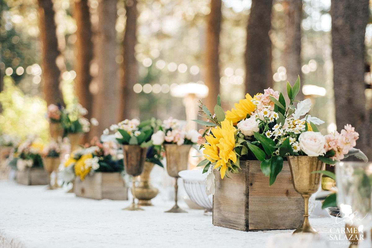 Bohemian wedding floral design - Carmen Salazar