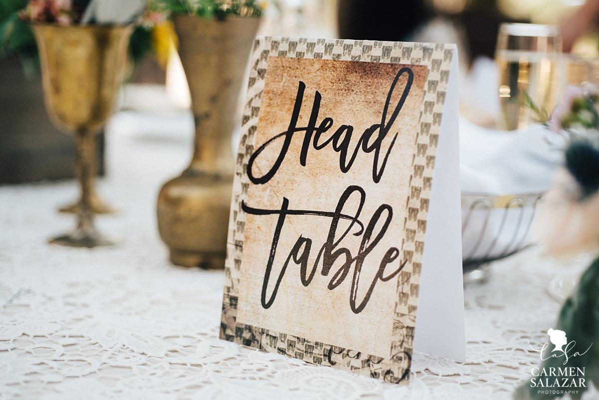 Boho wedding table centerpiece - Carmen Salazar