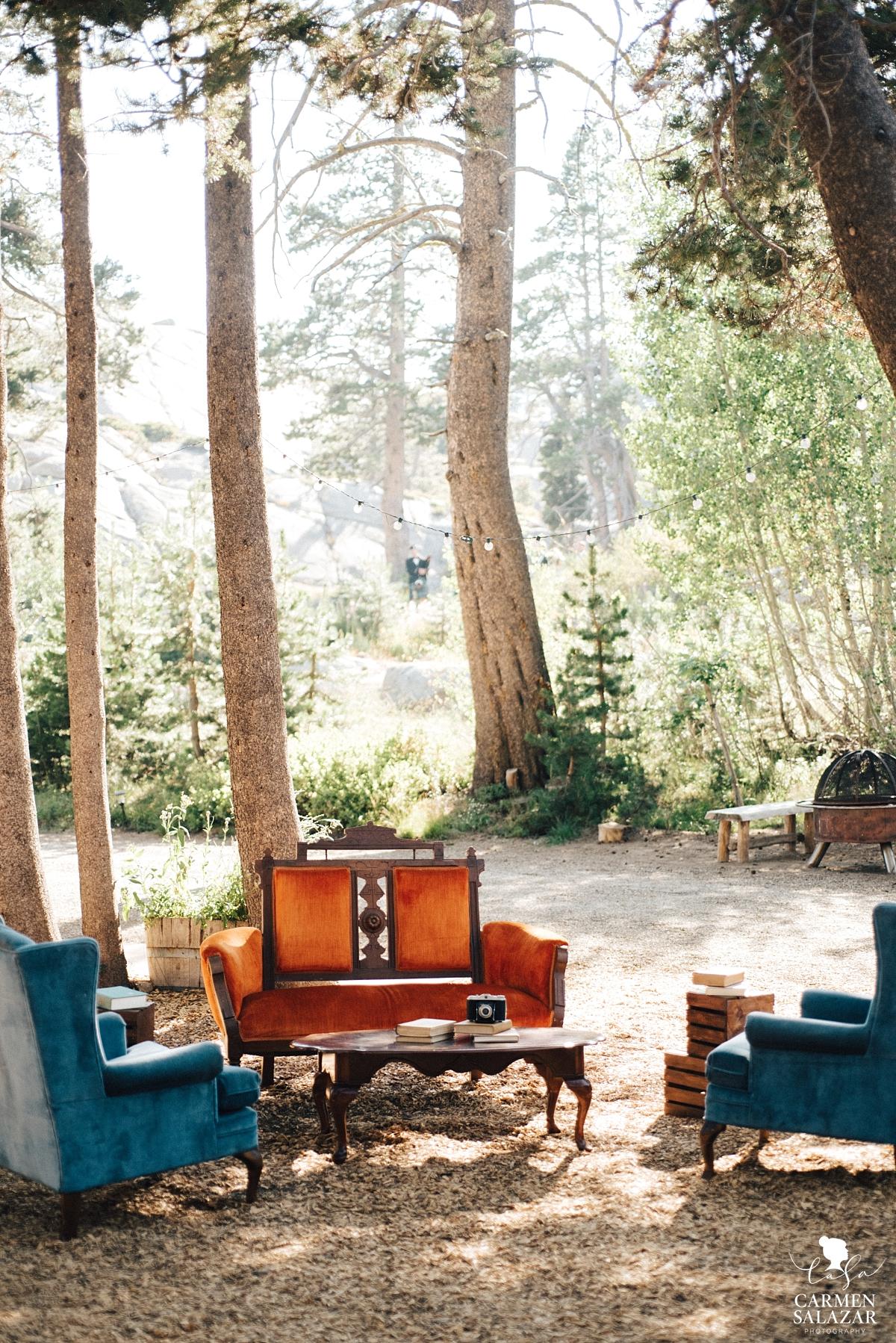 Boho outdoor lounge at The Hideout Kirkwood - Carmen Salazar