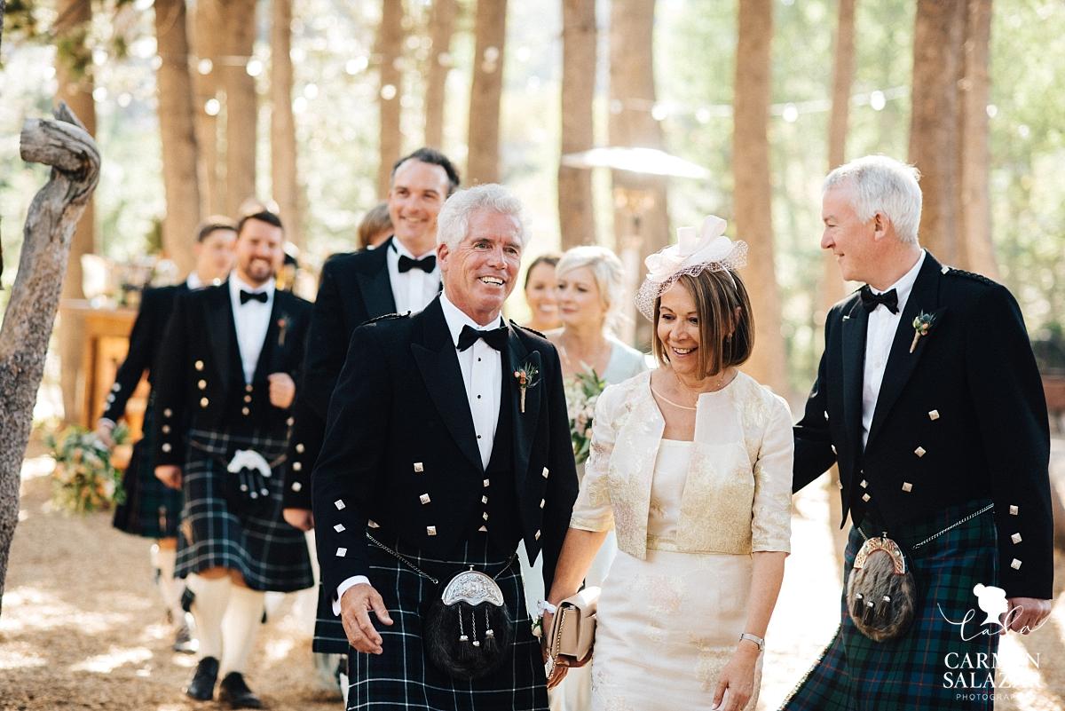 Scottish wedding party grand entrance - Carmen Salazar
