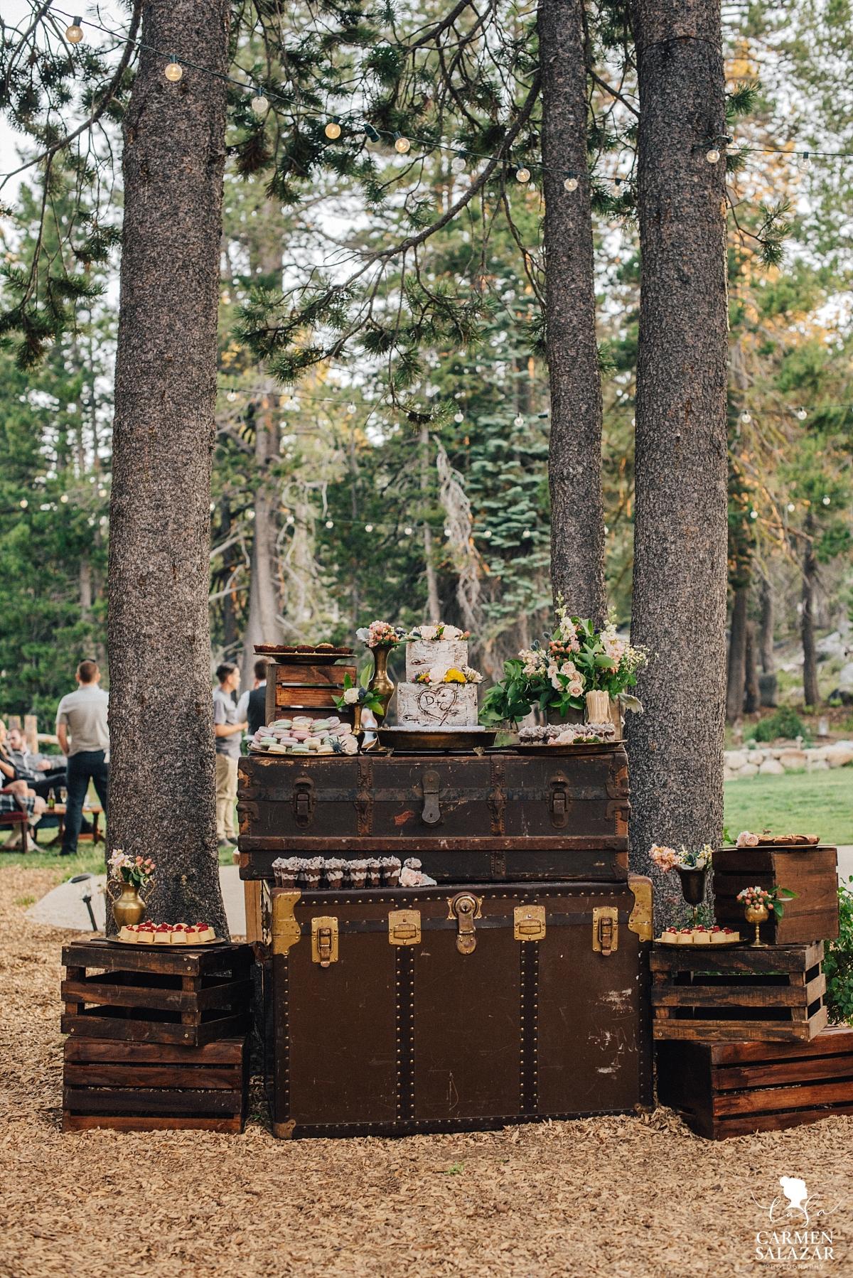 Gorgeous boho wedding dessert display - Carmen Salazar