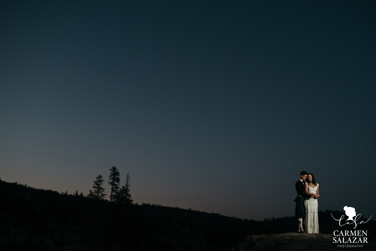 Dreamy Tahoe wedding sunset at The Hideout - Carmen Salazar