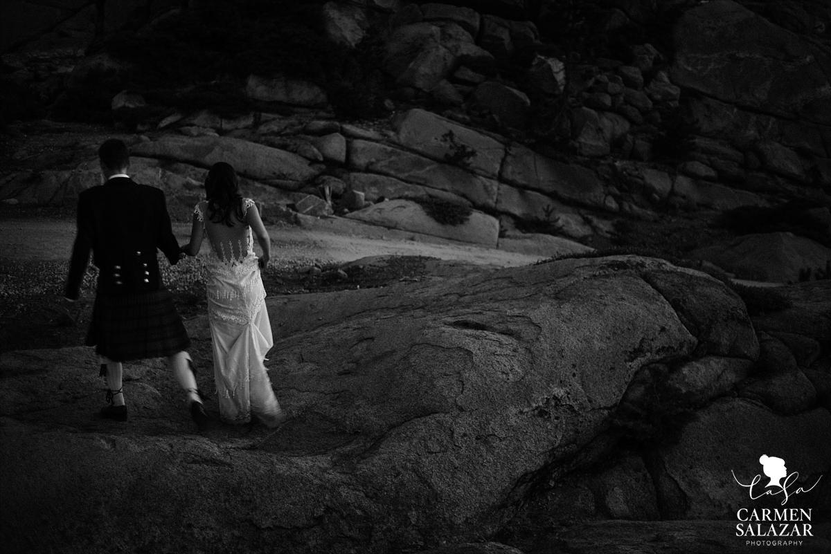 Wedding mountain climbing at The Hideout Kirkwood - Carmen Salazar